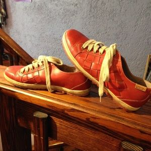 Pikolinos Red Leather Sneakers